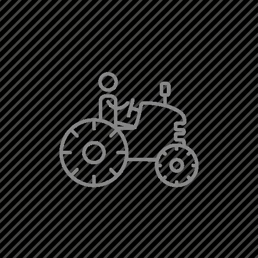 auto, driver, farmer, farming, harvest, machinery, tractor icon