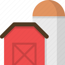 agriculture, domestic, farm, sillo, village icon