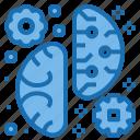 artificial, automation, brain, futuristic, intelligence, robotic, technology icon