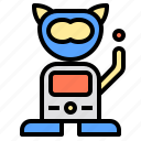 artificial, futuristic, intelligence, pet, robot, robotic, technology icon