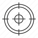 aim, focus, goal, hunt, search, seek, target icon