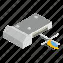 isometric, object, rotorcraft, sign icon