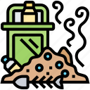 junk, rubbish, stinky, trash, decompose icon
