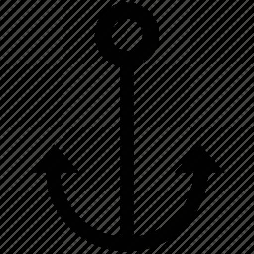 anchor, boat anchor, marine, marine anchor, navy, sea, ship anchor icon