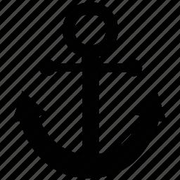 anchor, boat anchor, marine, marine anchor, navy anchor, sea, ship anchor icon