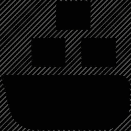 cargo ship, container ship, sea trading, ship, shipping, water transport icon