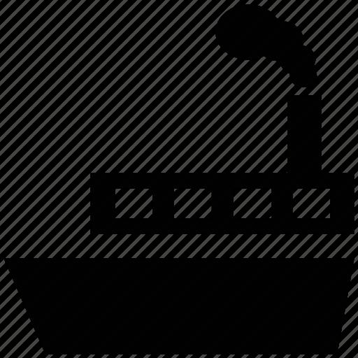 boat, sea trading, ship, shipping boat, steamboat, vehicle icon