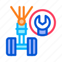 auto, chassis, garage, service, spanner, workshop, wrench icon