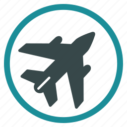 aeroplane, aircraft, airplane, airport, aviation, flight, plane icon