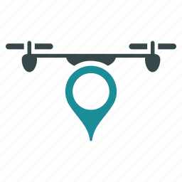 aircraft, drone, flying copter, location, nanocopter, pointer, quadcopter icon