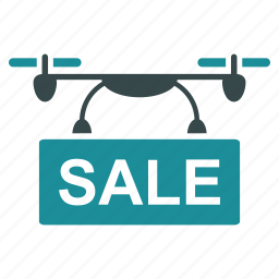 ads, aircraft, drone, flying copter, nanocopter, quadcopter, sale icon