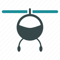 aviation, chopper, flight, helicopter, transport, transportation, vehicle icon