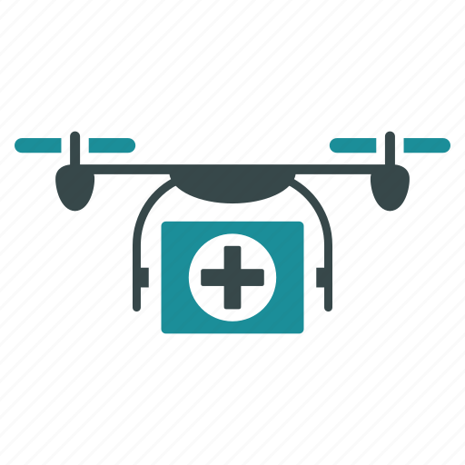aircraft, drone, flying copter, healthcare, medical, nanocopter, quadcopter icon