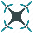 multicopter, quadcopter, nanocopter, airdrone, flying drone, quad copter, radio control uav icon