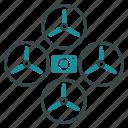drone, quadcopter, camera, spy, flying copter, nanocopter, photo camera icon
