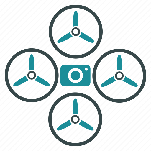 camera, drone, flying copter, nanocopter, photo camera, quadcopter, spy icon