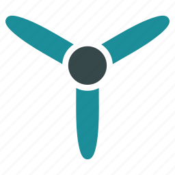 blade, motor, propeller, rotor, three bladed screw, turbine icon