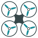aircraft, drone, flying copter, multicopter, nanocopter, propeller, quadcopter icon