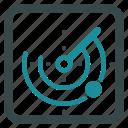 radar, location, locator, navigation, signal, gps, pointer icon
