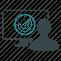 drone control, location, monitor, operator, radar, signal, user icon