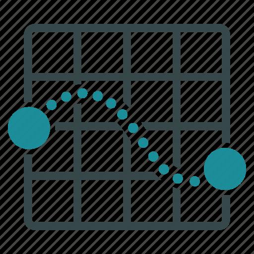 Grid, route, destination, map, plan, direction, navigation icon - Download on Iconfinder