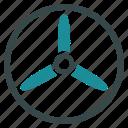 screw, propeller, rotor, three bladed screw, cooler, fan, turbine