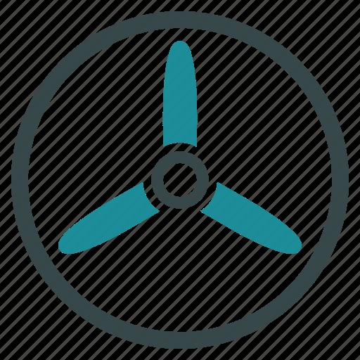 cooler, fan, propeller, rotor, screw, three bladed screw, turbine icon