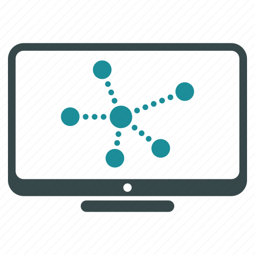 display, graph, monitor, route, screen, traces, tracks icon