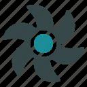 turbine, propeller, rotor, screw, cooler, fan, ventilator icon