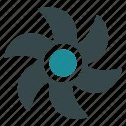 cooler, fan, propeller, rotor, screw, turbine, ventilator icon