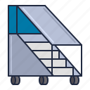 airline, airplane, ladder icon