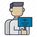 airline, airport, representative icon