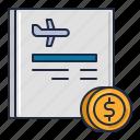 airline, base, fare, transportation icon