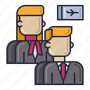 airline, cabin, crew icon