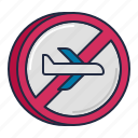 airline, cancelled, flight icon