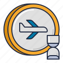 airline, delayed, flight icon