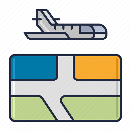 airline, domestic, flight icon