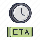 airline, eta, transportation icon