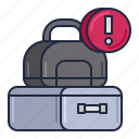 airline, baggage, excess icon