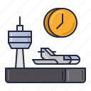 airline, layover, transportation icon