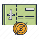 airline, nrmr, ticket icon