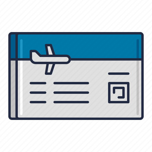 airline, coupon, passenger icon