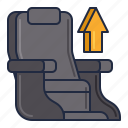 airline, chair, seat, upgrade icon