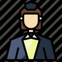 air, attendant, flight, hostess, jobs, professions, stewardess icon
