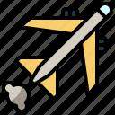 air, airplane, plane, shape, transport, transportation icon
