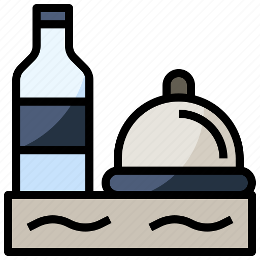 food, meal, menu, order, restaurant, service, tray icon