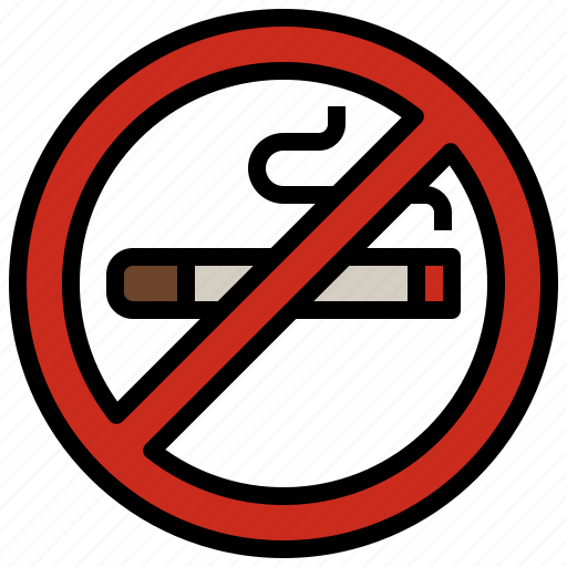 cigarette, forbidden, no, prohibition, signaling, smoking, warming icon