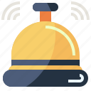 assistant, bell, communications, happy, help, service icon