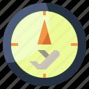 aeroplane, airplane, airport, compass, flight, location, maps icon