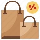 bag, commerce, discount, sales, shopping, transportation icon
